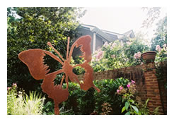 Butterfly, a symbol of Inman Park, a historic neighborhood in Atlanta, Georgia