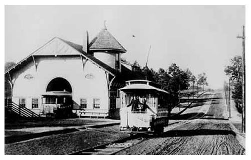 Historic Photo, The Trolley Barn, in Inman park, a historic neighborhood in Atlanta, Georgia